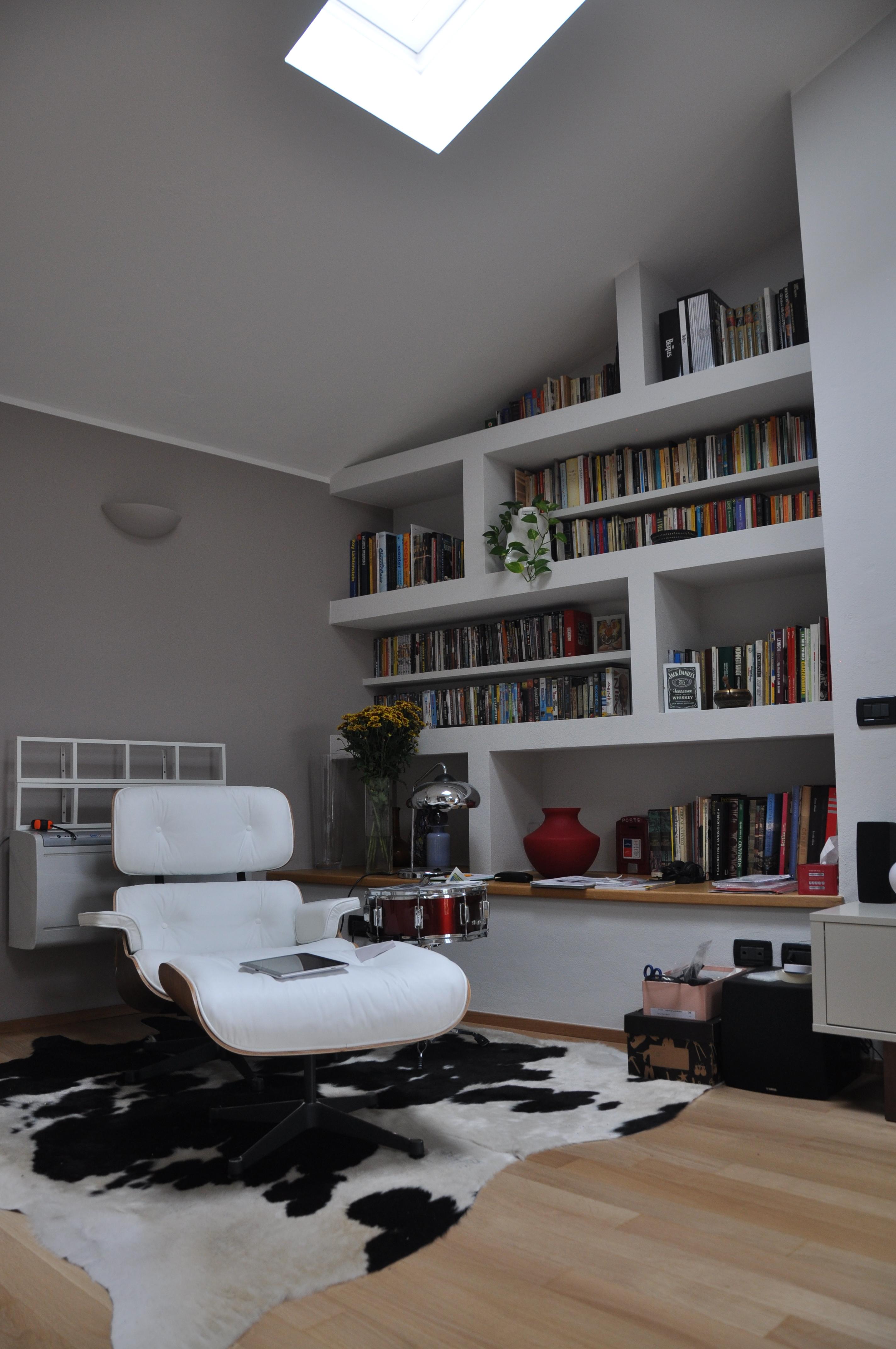 Libreria Cartongesso E Vetro camini in cartongesso - profart srl